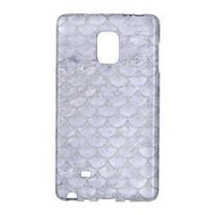 Scales3 White Marble & Silver Glitter (r) Galaxy Note Edge by trendistuff