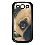 Pouty Pug case Samsung Galaxy S3 Back Case (Black)