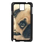 Pouty Pug case Samsung Galaxy Note 3 N9005 Case (Black)