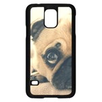 Pouty Pug case Samsung Galaxy S5 Case (Black)