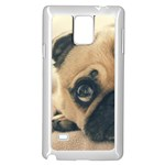 Pouty Pug case Samsung Galaxy Note 4 Case (White)