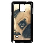 Pouty Pug case Samsung Galaxy Note 4 Case (Black)