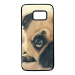 Pouty Pug case Samsung Galaxy S7 Black Seamless Case