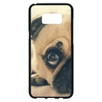 Pouty Pug case Samsung Galaxy S8 Plus Black Seamless Case