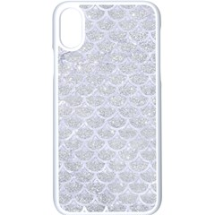 Scales3 White Marble & Silver Glitter Apple Iphone X Seamless Case (white)