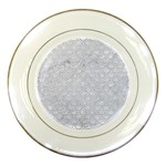 SCALES2 WHITE MARBLE & SILVER GLITTER (R) Porcelain Plates Front