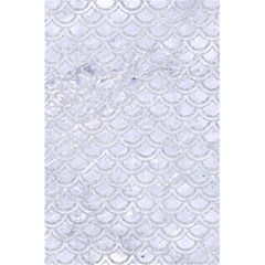 Scales2 White Marble & Silver Glitter (r) 5 5  X 8 5  Notebooks by trendistuff