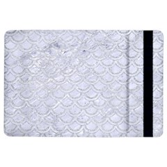 Scales2 White Marble & Silver Glitter (r) Ipad Air 2 Flip by trendistuff