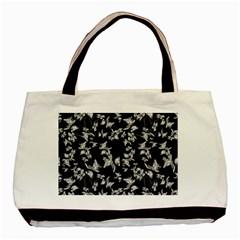 Dark Orquideas Floral Pattern Print Basic Tote Bag by dflcprints