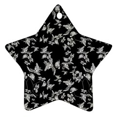 Dark Orquideas Floral Pattern Print Star Ornament (two Sides) by dflcprints