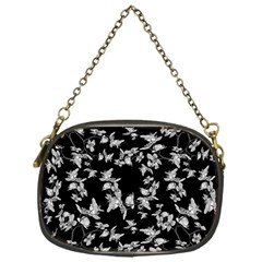 Dark Orquideas Floral Pattern Print Chain Purses (one Side)  by dflcprints