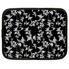 Dark Orquideas Floral Pattern Print Netbook Case (xl)  by dflcprints