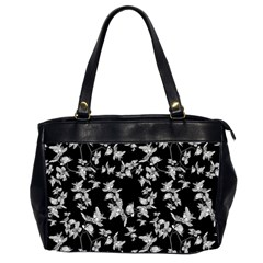 Dark Orquideas Floral Pattern Print Office Handbags (2 Sides)  by dflcprints