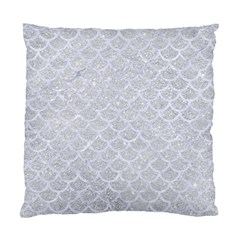 Scales1 White Marble & Silver Glitter Standard Cushion Case (two Sides) by trendistuff