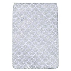 Scales1 White Marble & Silver Glitter Flap Covers (l)  by trendistuff