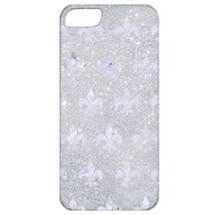 Royal1 White Marble & Silver Glitter (r) Apple Iphone 5 Classic Hardshell Case by trendistuff