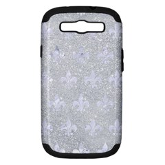 Royal1 White Marble & Silver Glitter (r) Samsung Galaxy S Iii Hardshell Case (pc+silicone) by trendistuff