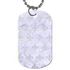 Royal1 White Marble & Silver Glitter Dog Tag (two Sides) by trendistuff