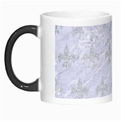 Royal1 White Marble & Silver Glitter Morph Mugs by trendistuff