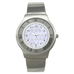 Royal1 White Marble & Silver Glitter Stainless Steel Watch by trendistuff