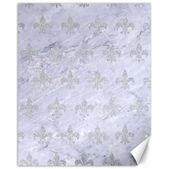 Royal1 White Marble & Silver Glitter Canvas 16  X 20   by trendistuff