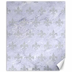 Royal1 White Marble & Silver Glitter Canvas 20  X 24   by trendistuff