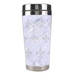 Royal1 White Marble & Silver Glitter Stainless Steel Travel Tumblers by trendistuff