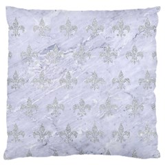 Royal1 White Marble & Silver Glitter Standard Flano Cushion Case (one Side) by trendistuff