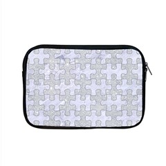 Puzzle1 White Marble & Silver Glitter Apple Macbook Pro 15  Zipper Case by trendistuff
