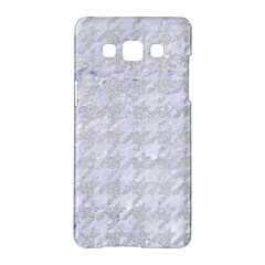 Houndstooth1 White Marble & Silver Glitter Samsung Galaxy A5 Hardshell Case  by trendistuff