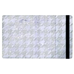 Houndstooth1 White Marble & Silver Glitter Apple Ipad Pro 9 7   Flip Case by trendistuff