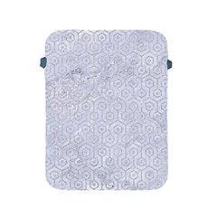 Hexagon1 White Marble & Silver Glitter (r) Apple Ipad 2/3/4 Protective Soft Cases by trendistuff