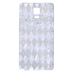 Diamond1 White Marble & Silver Glitter Galaxy Note 4 Back Case by trendistuff