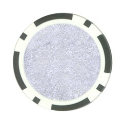 Damask2 White Marble & Silver Glitter (r) Poker Chip Card Guard (10 Pack) by trendistuff