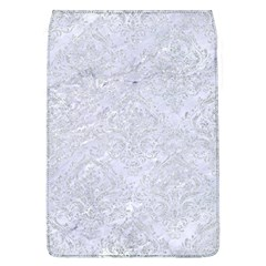 Damask1 White Marble & Silver Glitter (r) Flap Covers (l)  by trendistuff