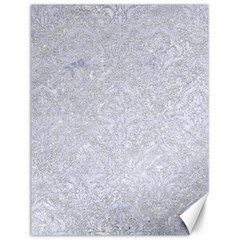 Damask1 White Marble & Silver Glitter Canvas 12  X 16   by trendistuff