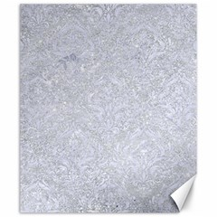 Damask1 White Marble & Silver Glitter Canvas 20  X 24   by trendistuff