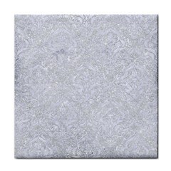 Damask1 White Marble & Silver Glitter Face Towel by trendistuff