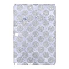 Circles2 White Marble & Silver Glitter (r) Samsung Galaxy Tab Pro 12 2 Hardshell Case