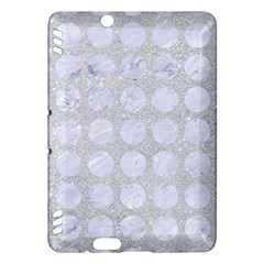 Circles1 White Marble & Silver Glitter Kindle Fire Hdx Hardshell Case by trendistuff