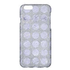Circles1 White Marble & Silver Glitter Apple Iphone 6 Plus/6s Plus Hardshell Case