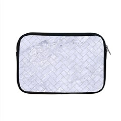 Brick2 White Marble & Silver Glitter (r) Apple Macbook Pro 15  Zipper Case by trendistuff