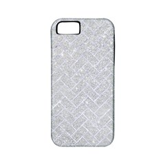 Brick2 White Marble & Silver Glitter Apple Iphone 5 Classic Hardshell Case (pc+silicone) by trendistuff