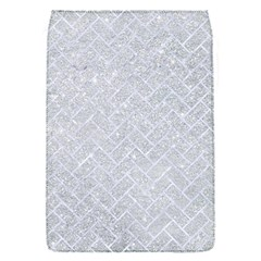 Brick2 White Marble & Silver Glitter Flap Covers (s)  by trendistuff