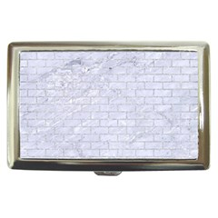 Brick1 White Marble & Silver Glitter (r) Cigarette Money Cases by trendistuff