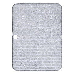 Brick1 White Marble & Silver Glitter Samsung Galaxy Tab 3 (10 1 ) P5200 Hardshell Case  by trendistuff