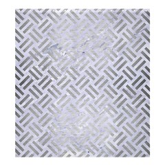 Woven2 White Marble & Silver Brushed Metal (r) Shower Curtain 66  X 72  (large)  by trendistuff