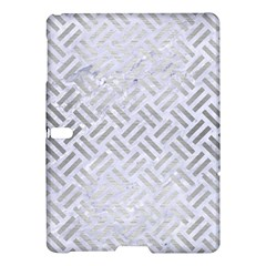 Woven2 White Marble & Silver Brushed Metal (r) Samsung Galaxy Tab S (10 5 ) Hardshell Case  by trendistuff