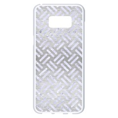 Woven2 White Marble & Silver Brushed Metal Samsung Galaxy S8 Plus White Seamless Case