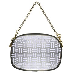 Woven1 White Marble & Silver Brushed Metal Chain Purses (one Side)  by trendistuff